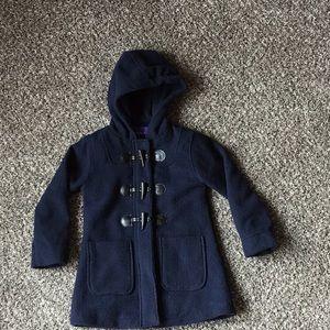 Madden Girl Navy Coat Size 5